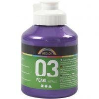 Skole akrylmaling metallic, metallic, violet, 500 ml/ 1 fl.