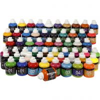 A-Color akrylmaling , ass. farver, 57x500 ml/ 1 pk.