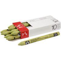 Neocolor I, L: 10 cm, tykkelse 8 mm, light olive (245), 10 stk./ 1 pk.