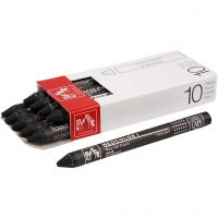 Neocolor I, L: 10 cm, tykkelse 8 mm, black (009), 10 stk./ 1 pk.