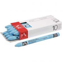 Neocolor I, L: 10 cm, tykkelse 8 mm, turquoise blue (171), 10 stk./ 1 pk.