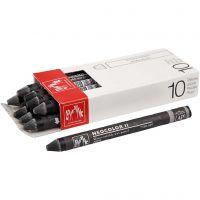 Neocolor II, L: 10 cm, black (009), 10 stk./ 1 pk.