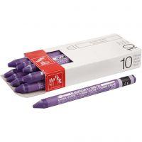Neocolor II, L: 10 cm, violet (120), 10 stk./ 1 pk.