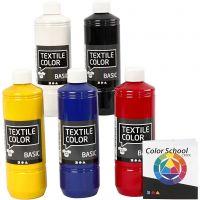 Textile Color, primærfarver, 5x500 ml/ 1 pk.