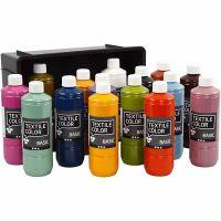 Textile Color, ass. farver, 15x500 ml/ 1 pk.