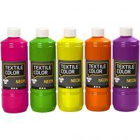 Textile Color, ass. farver, 5x500 ml/ 1 pk.