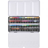 Art Aqua akvarelfarver, ½-pan, str. 10x20 mm, ass. farver, 48 frv./ 1 pk.