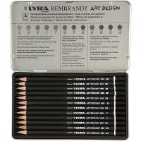 Art Design tegneblyanter, hårdhed B,2B,3B,4B,5B,6B,HB,H,2H,3H,4H,F, 12 stk./ 1 pk.