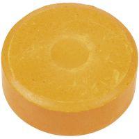 Vandfarve, H: 16 mm, diam. 44 mm, orange, 6 stk./ 1 pk.