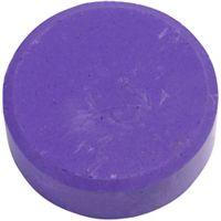 Vandfarve, H: 16 mm, diam. 44 mm, lilla, 6 stk./ 1 pk.