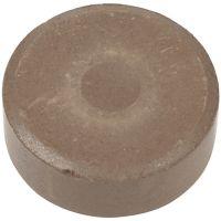 Vandfarve, H: 16 mm, diam. 44 mm, brun, 6 stk./ 1 pk.