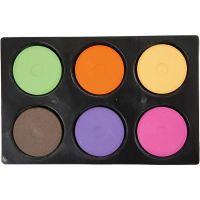 Vandfarve, H: 16 mm, diam. 44 mm, suppleringsfarver, 1 sæt