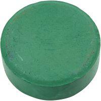 Vandfarve, H: 19 mm, diam. 57 mm, mørk grøn, 6 stk./ 1 pk.