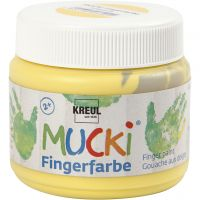 Fingermaling, gul, 150 ml/ 1 ds.