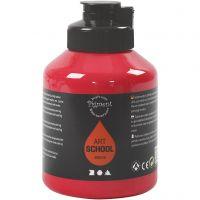Pigment Art School, halvtransparent, primær rød, 500 ml/ 1 fl.