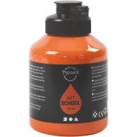 Pigment Art School, halvtransparent, orange, 500 ml/ 1 fl.