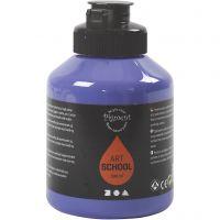 Pigment Art School, halvtransparent, violet blue, 500 ml/ 1 fl.