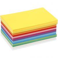 Forårskarton, A6, 105x148 mm, 180 g, forårsfarver, 300 ark/ 1 pk.