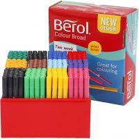 Berol Colourbroad tusch, streg 1-1,7 mm, ass. farver, 288 stk./ 1 pk.