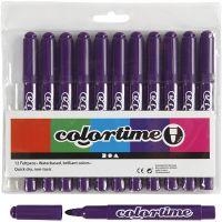 Colortime Tusch, streg 5 mm, lilla, 12 stk./ 1 pk.