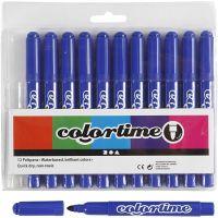 Colortime Tusch, streg 5 mm, blå, 12 stk./ 1 pk.