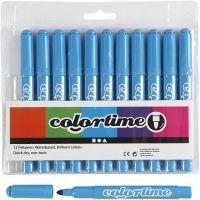 Colortime Tusch, streg 5 mm, lyseblå, 12 stk./ 1 pk.