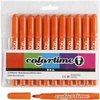 Colortime Tusch, streg 5 mm, orange, 12 stk./ 1 pk.