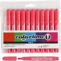 Colortime Tusch, streg 5 mm, pink, 12 stk./ 1 pk.