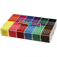 Colortime Tusch, streg 5 mm, standardfarver, 12x24 stk./ 1 pk.