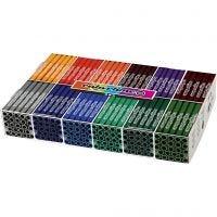 Colortime Tusch, streg 5 mm, suppleringsfarver, 12x24 stk./ 1 pk.