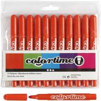 Colortime Tusch, streg 5 mm, mørk orange, 12 stk./ 1 pk.