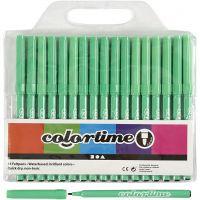 Colortime Tusch, streg 2 mm, lys grøn, 18 stk./ 1 pk.