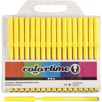 Colortime Tusch, streg 2 mm, citrongul, 18 stk./ 1 pk.