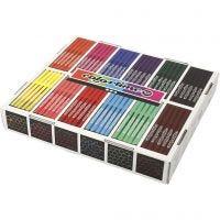 Colortime Tusch, streg 2 mm, ass. farver, 12x24 stk./ 1 pk.