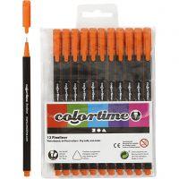 Colortime Fineliner Tusch, streg 0,6-0,7 mm, orange, 12 stk./ 1 pk.