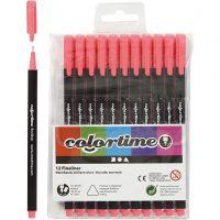 Colortime Fineliner Tusch, streg 0,6-0,7 mm, pink, 12 stk./ 1 pk.