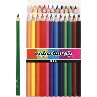 Colortime farveblyanter, L: 17,45 cm, mine 5 mm, JUMBO, ass. farver, 12 stk./ 1 pk.