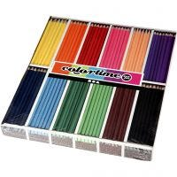 Colortime farveblyanter, L: 17,45 cm, mine 3 mm, ass. farver, 12x24 stk./ 1 pk.