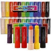 Soft Color Stick, L: 8 cm, ass. farver, 120 stk./ 1 pk., 6,5 g