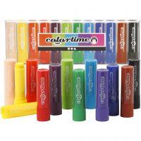 Soft Color Stick, L: 8 cm, ass. farver, 12 stk./ 1 pk.