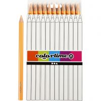 Colortime farveblyanter, L: 17,45 cm, mine 5 mm, JUMBO, lys pudder, 12 stk./ 1 pk.