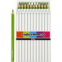 Colortime farveblyanter, L: 17,45 cm, mine 5 mm, JUMBO, lys grøn, 12 stk./ 1 pk.