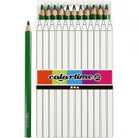 Colortime farveblyanter, L: 17,45 cm, mine 5 mm, JUMBO, grøn, 12 stk./ 1 pk.