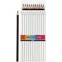 Colortime farveblyanter, L: 17 cm, mine 3 mm, sort, 12 stk./ 1 pk.