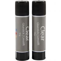 Clear limstift, rund, 2 stk./ 1 pk., 10 g