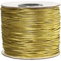 Elastiksnor, tykkelse 1 mm, guld, 100 m/ 1 rl.