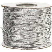 Elastiksnor, tykkelse 1 mm, sølv, 100 m/ 1 rl.