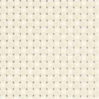 Aidastof, str. 50x50 cm, 35 tern pr. 10 cm, råhvid, 1 stk.