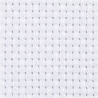 Aidastof, str. 50x50 cm, 35 tern pr. 10 cm, hvid, 1 stk.