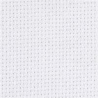 Aidastof, str. 50x50 cm, 70 tern pr. 10 cm, hvid, 1 stk.